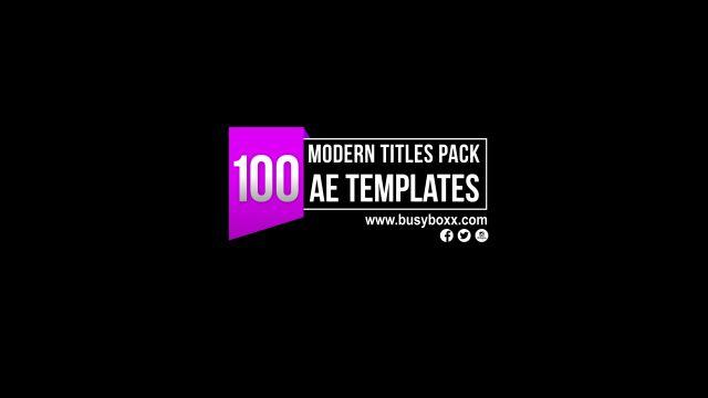 100个现代标题徽标Logo文本动画演示MP4视频模板素材 BusyBoxx – V05 Modern Titles插图74