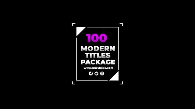 100个现代标题徽标Logo文本动画演示MP4视频模板素材 BusyBoxx – V05 Modern Titles插图77