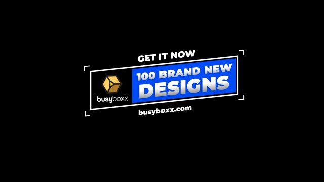 100个现代标题徽标Logo文本动画演示MP4视频模板素材 BusyBoxx – V05 Modern Titles插图80