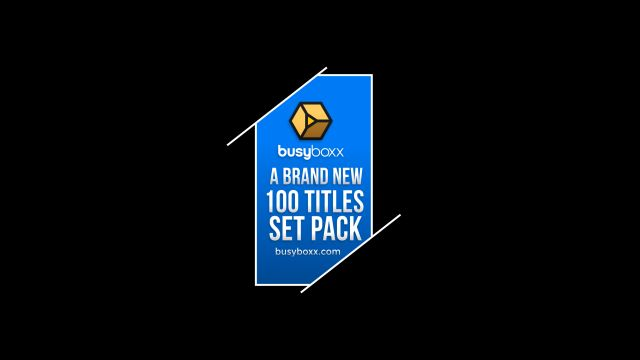 100个现代标题徽标Logo文本动画演示MP4视频模板素材 BusyBoxx – V05 Modern Titles插图83