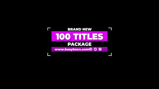 100个现代标题徽标Logo文本动画演示MP4视频模板素材 BusyBoxx – V05 Modern Titles插图88