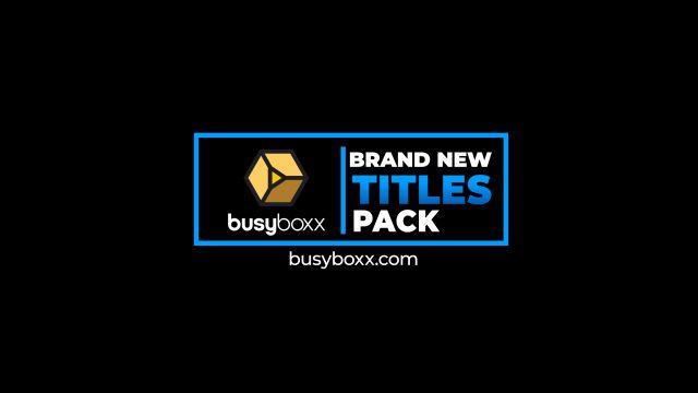 100个现代标题徽标Logo文本动画演示MP4视频模板素材 BusyBoxx – V05 Modern Titles插图89