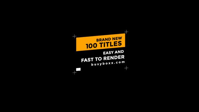 100个现代标题徽标Logo文本动画演示MP4视频模板素材 BusyBoxx – V05 Modern Titles插图1