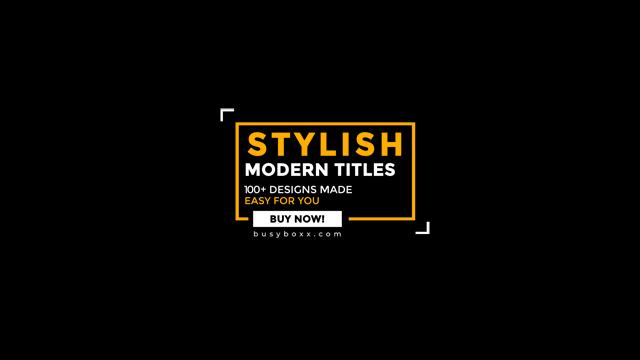 100个现代标题徽标Logo文本动画演示MP4视频模板素材 BusyBoxx – V05 Modern Titles插图4