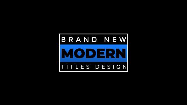 100个现代标题徽标Logo文本动画演示MP4视频模板素材 BusyBoxx – V05 Modern Titles插图6