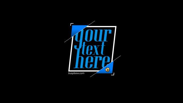 100个现代标题徽标Logo文本动画演示MP4视频模板素材 BusyBoxx – V05 Modern Titles插图13