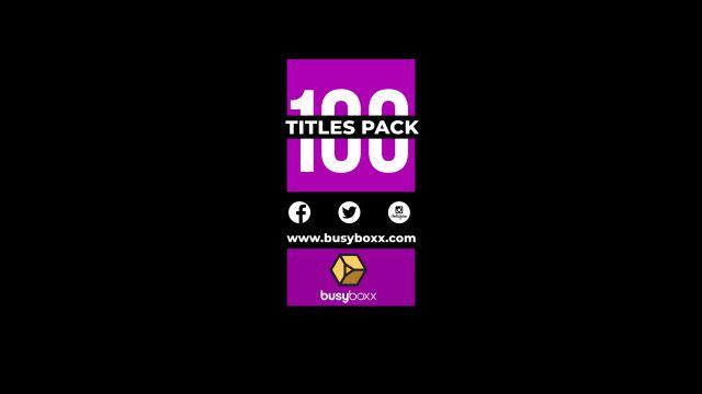 100个现代标题徽标Logo文本动画演示MP4视频模板素材 BusyBoxx – V05 Modern Titles插图18