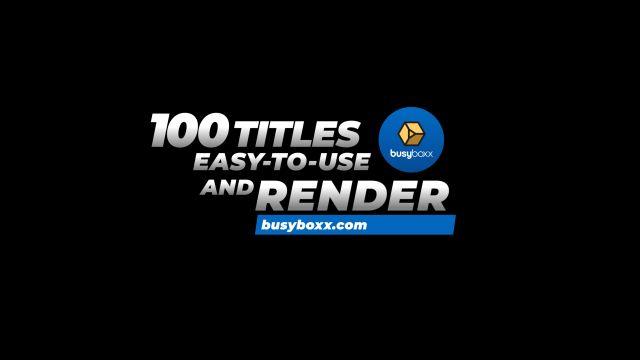 100个现代标题徽标Logo文本动画演示MP4视频模板素材 BusyBoxx – V05 Modern Titles插图19