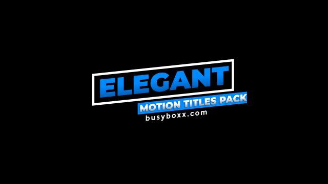 100个现代标题徽标Logo文本动画演示MP4视频模板素材 BusyBoxx – V05 Modern Titles插图21