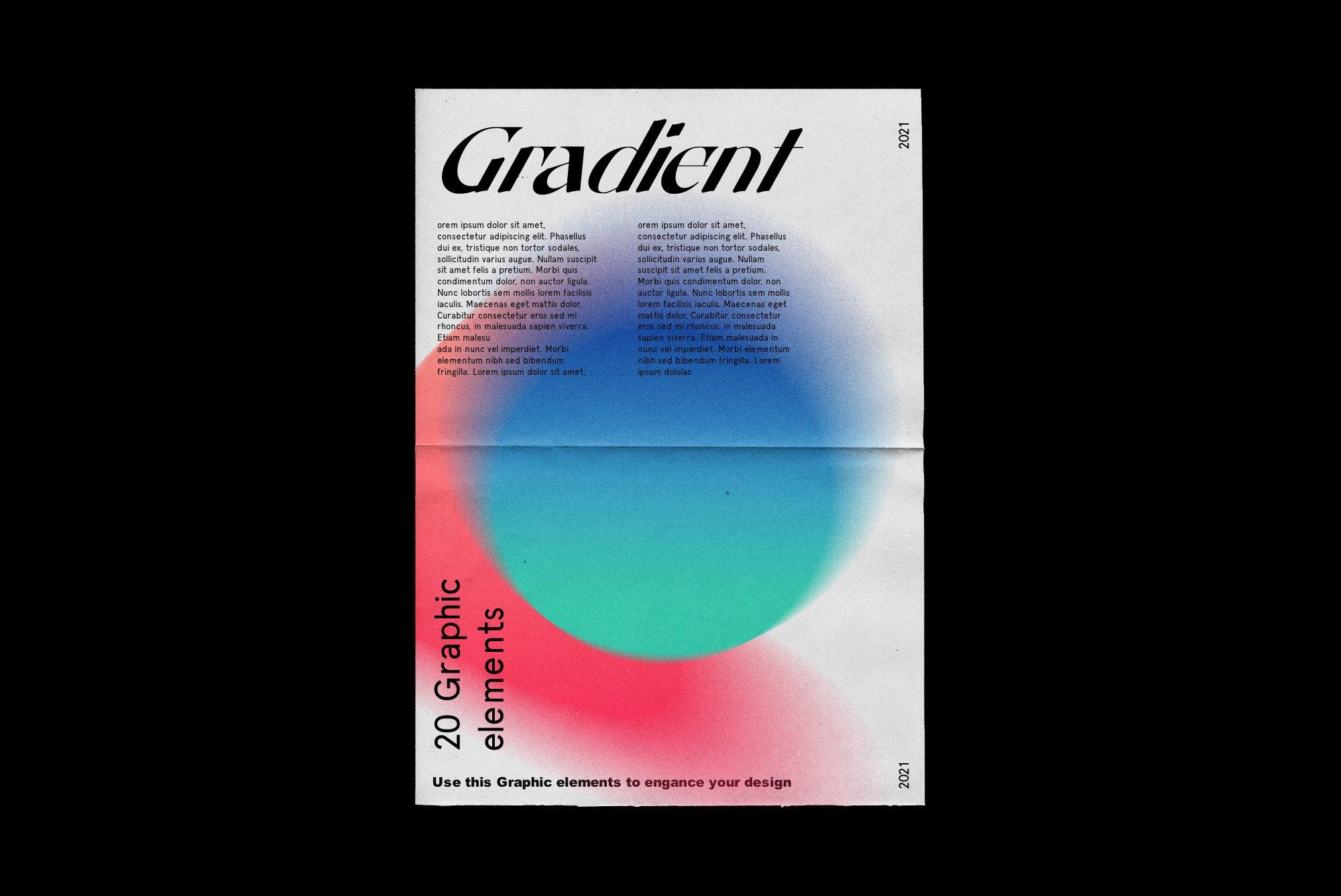 [单独购买] 潮流复古炫彩颗粒噪点模糊渐变背景纹理图形设计素材 Gradient Color Grainy Textures插图5