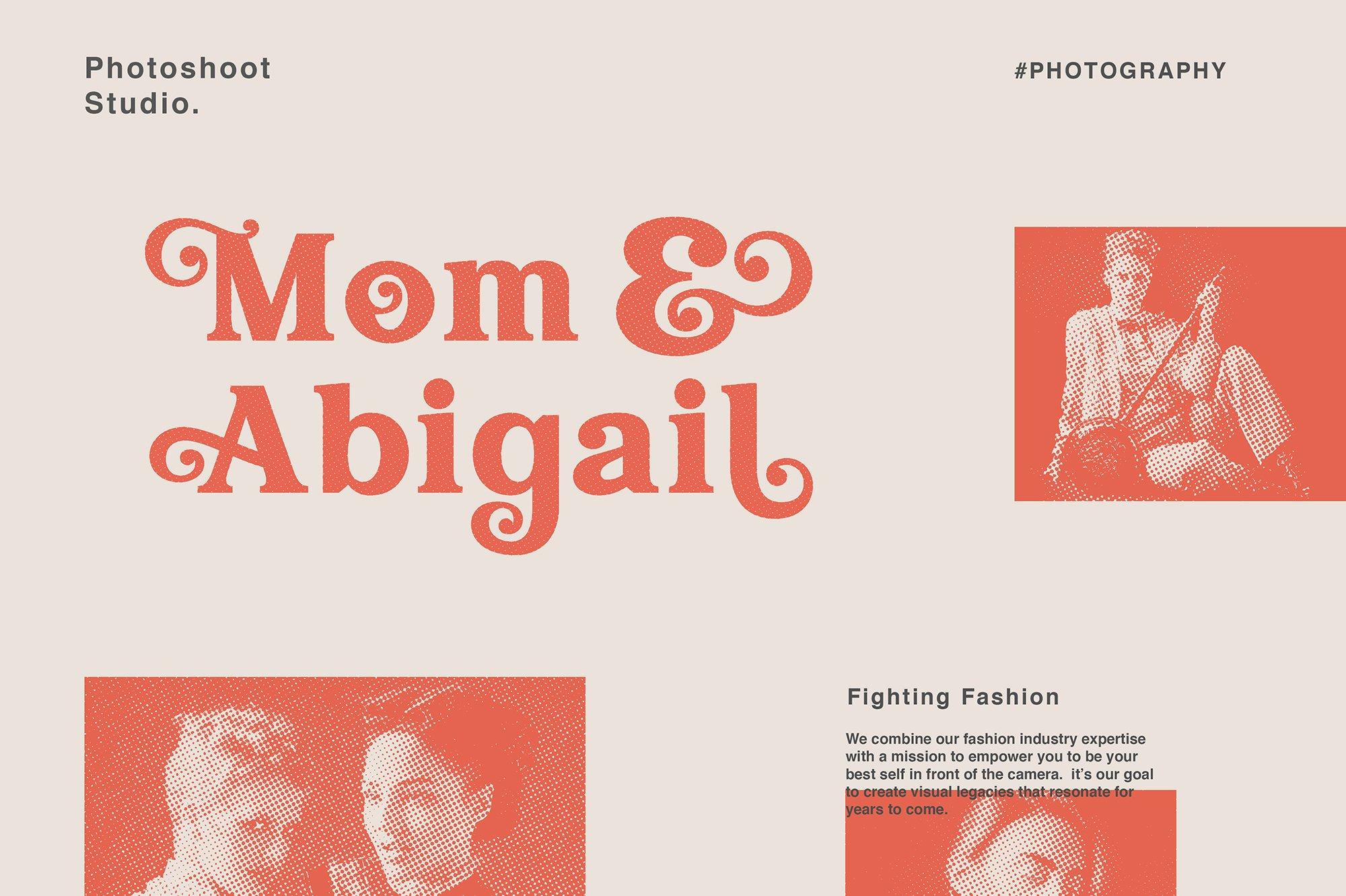 现代经典杂志海报标题Logo设计衬线英文字体下载 Hallen Font插图5