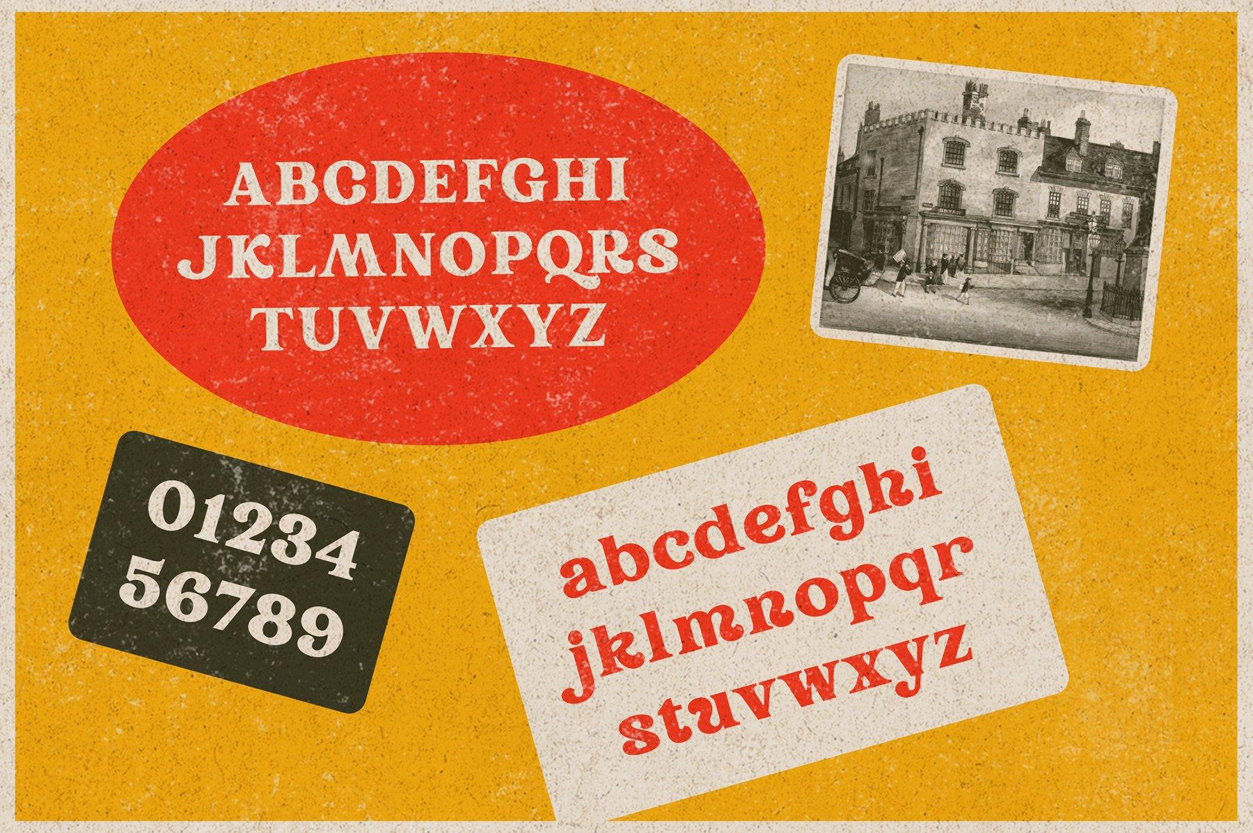 精美复古海报标题徽标Logo设计衬线英文字体素材 Rundeck – Vintage Texture Font插图4