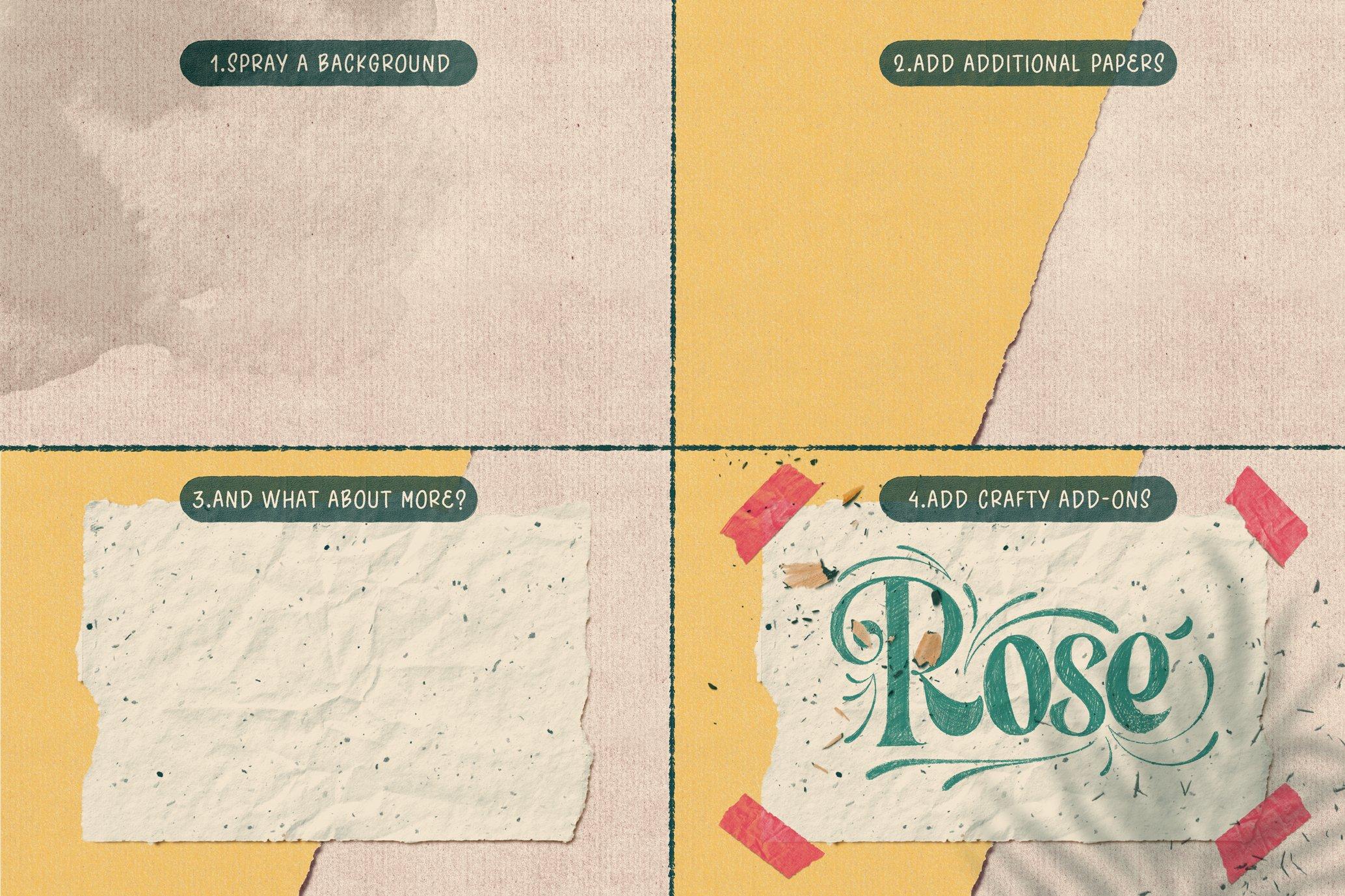 复古做旧颗粒撕纸纸张纹理iPad Procreate笔刷素材套装 The Ultimate Procreate Background Set插图6