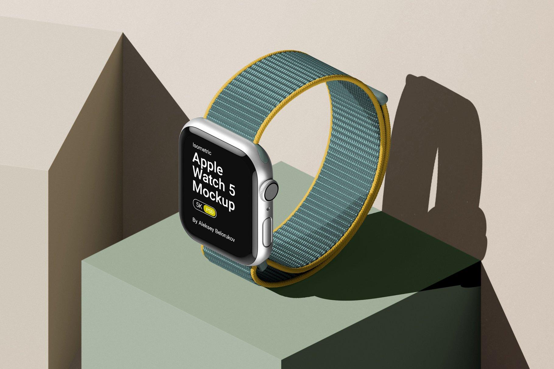 [单独购买] 16款时尚等距APP界面设计苹果设备屏幕演示场景样机模板套装 Device Pack Mockups – Isometric插图4