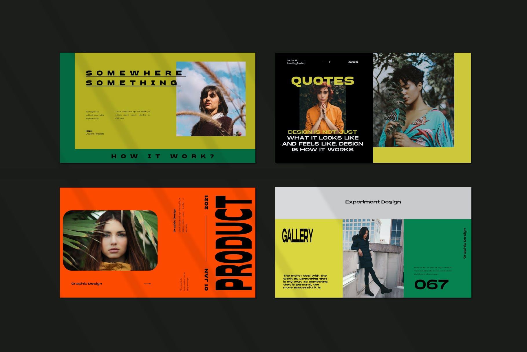 时尚潮流品牌策划案提案简报设计演示文稿模板 Brooke Powerpoint Template插图5