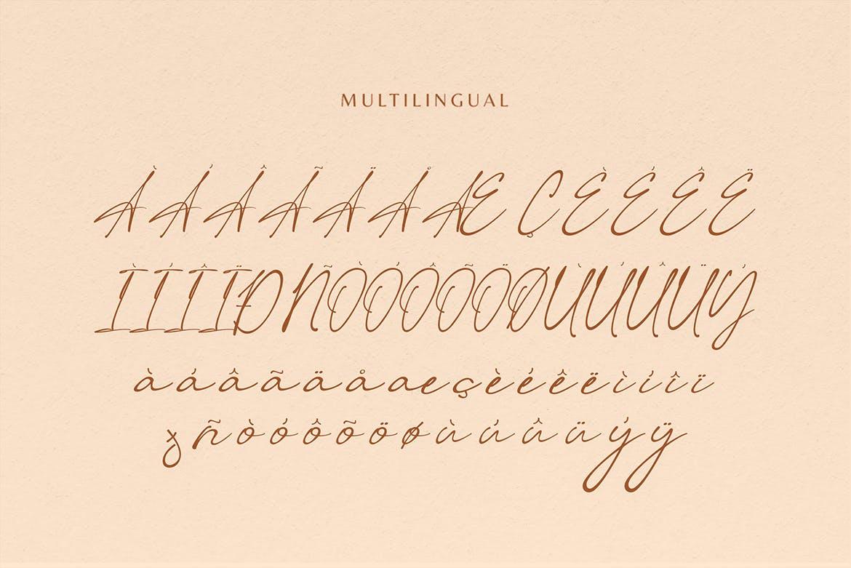 现代优雅杂志徽标Logo手写英文字体设计素材 Keumala – Script Signature Font插图5