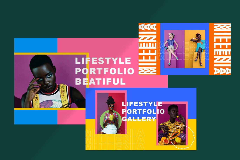 时尚炫彩品牌策划提案简报作品集设计PPT+Keynote模板 Millenia – Fashion PowerPoint Template插图11