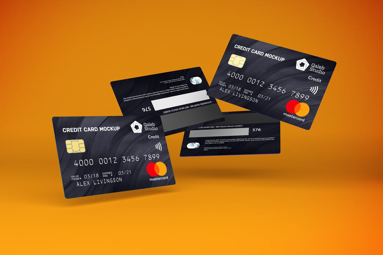 5款逼真银行信用卡卡片设计展示贴图样机素材 Credit Card V.1插图5