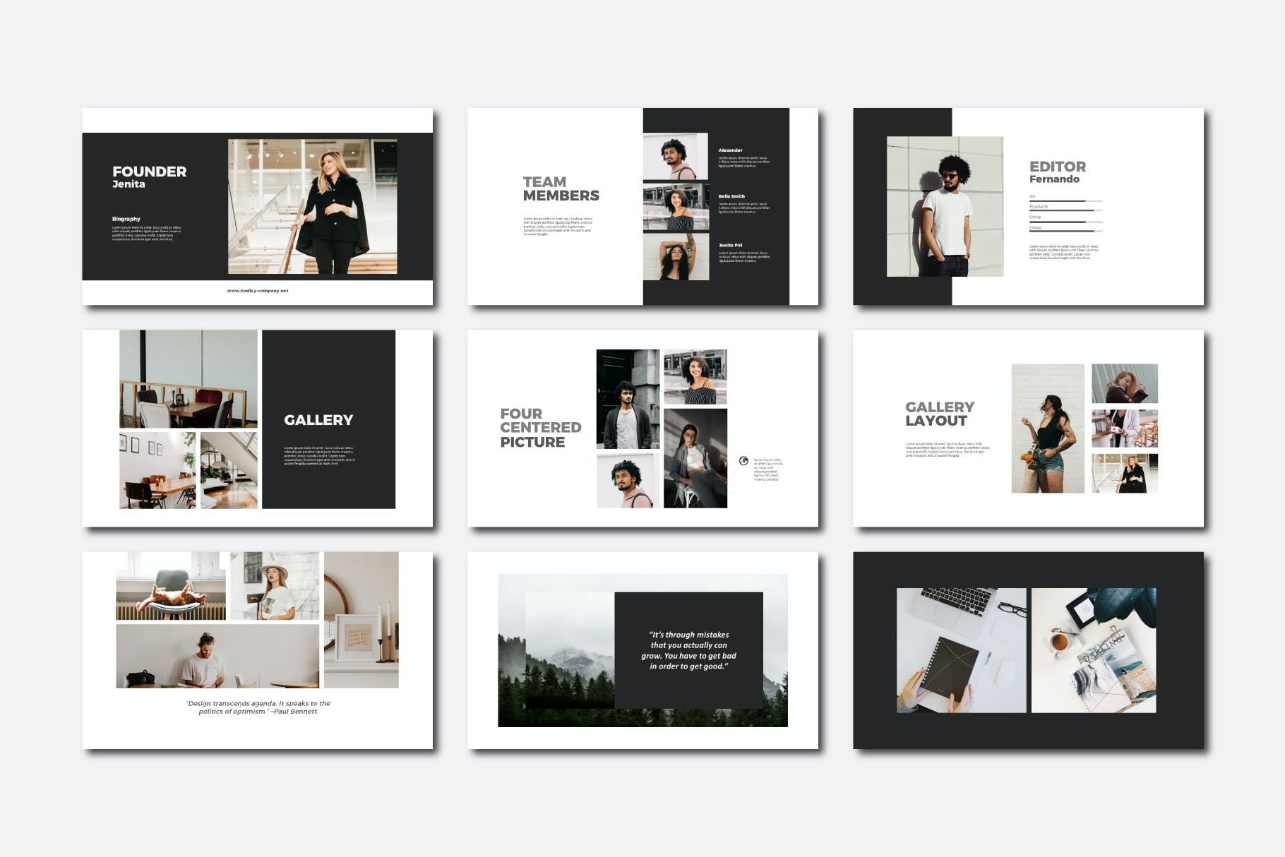 现代商务策划提报演示文稿设计素材模版 Hadley Bundle Presentation插图5