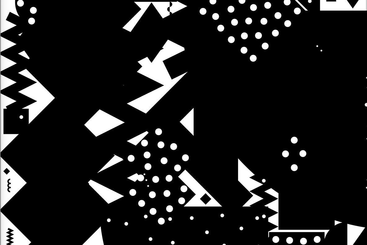 20个抽象几何拼贴矢量背景图片设计素材 Mono Contain – Background Patterns插图5