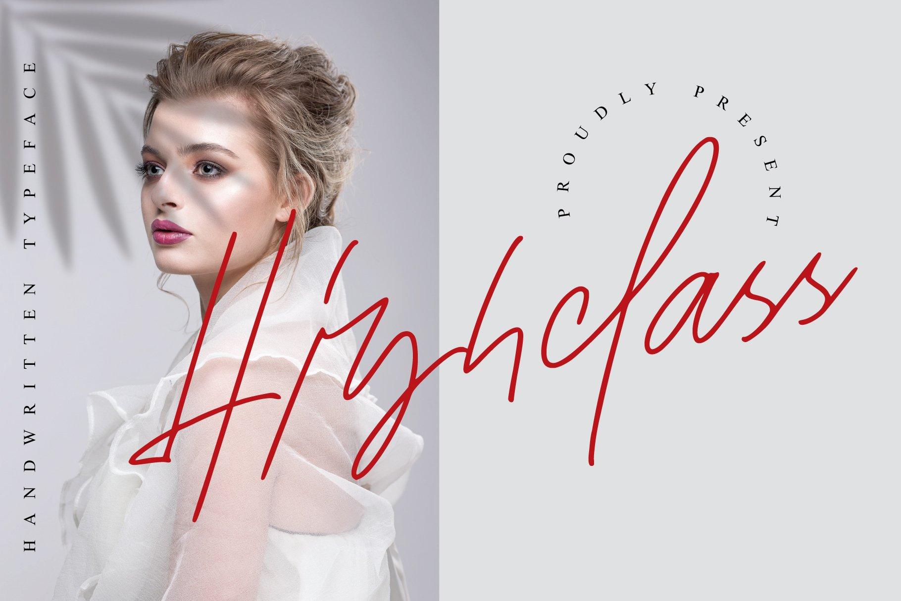 现代时尚海报标题品牌徽标Logo设计手写英文字体素材 Socialite Font插图5