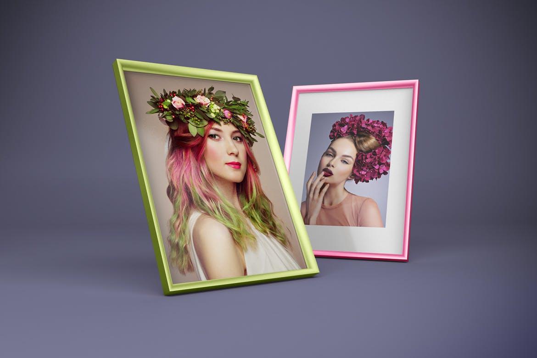 多角度艺术品相片展示相框样机模板 Frame Mockup插图5
