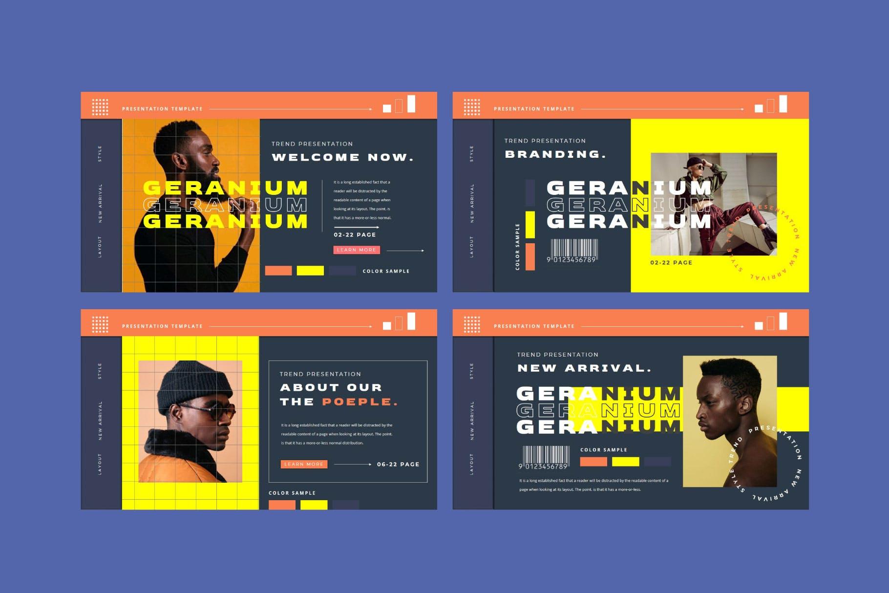 潮流品牌营销提案简报作品集设计模板 GERANIUM Powerpoint Template插图5