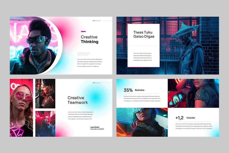现代炫彩品牌营销策划提报幻灯片设计PPT+Keynote模板素材 PALOX – Creative Agency Powerpoint Template插图5