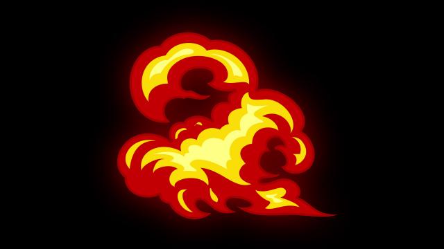 [单独购买] 150个4K高清动漫卡通火焰烟雾能量电流爆炸转场MG元素包PR+AE动画模板  BusyBoxx – V06 Comic FireFX插图76