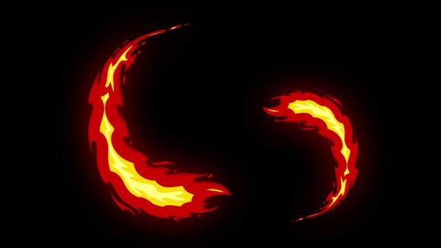 [单独购买] 150个4K高清动漫卡通火焰烟雾能量电流爆炸转场MG元素包PR+AE动画模板  BusyBoxx – V06 Comic FireFX插图78