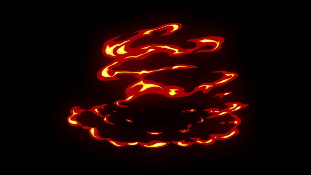 [单独购买] 150个4K高清动漫卡通火焰烟雾能量电流爆炸转场MG元素包PR+AE动画模板  BusyBoxx – V06 Comic FireFX插图92