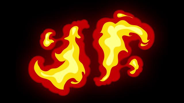 [单独购买] 150个4K高清动漫卡通火焰烟雾能量电流爆炸转场MG元素包PR+AE动画模板  BusyBoxx – V06 Comic FireFX插图98