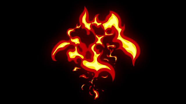 [单独购买] 150个4K高清动漫卡通火焰烟雾能量电流爆炸转场MG元素包PR+AE动画模板  BusyBoxx – V06 Comic FireFX插图110