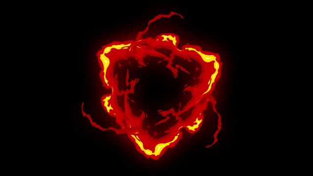 [单独购买] 150个4K高清动漫卡通火焰烟雾能量电流爆炸转场MG元素包PR+AE动画模板  BusyBoxx – V06 Comic FireFX插图119