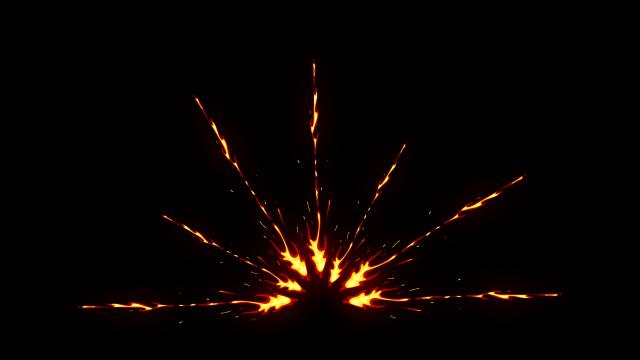 [单独购买] 150个4K高清动漫卡通火焰烟雾能量电流爆炸转场MG元素包PR+AE动画模板  BusyBoxx – V06 Comic FireFX插图125