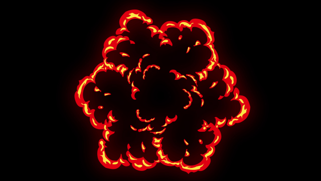 [单独购买] 150个4K高清动漫卡通火焰烟雾能量电流爆炸转场MG元素包PR+AE动画模板  BusyBoxx – V06 Comic FireFX插图131