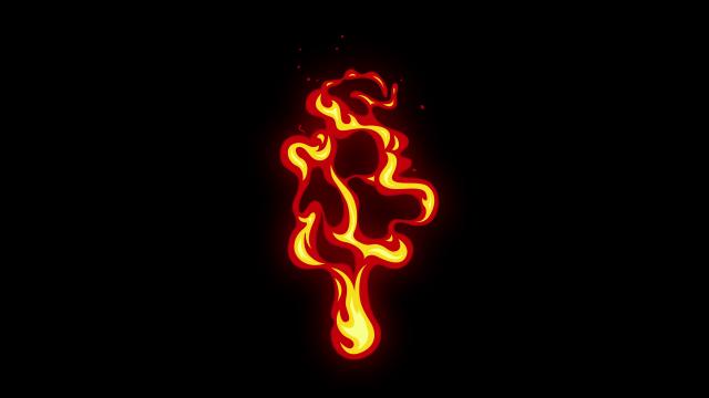 [单独购买] 150个4K高清动漫卡通火焰烟雾能量电流爆炸转场MG元素包PR+AE动画模板  BusyBoxx – V06 Comic FireFX插图150