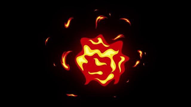 [单独购买] 150个4K高清动漫卡通火焰烟雾能量电流爆炸转场MG元素包PR+AE动画模板  BusyBoxx – V06 Comic FireFX插图17
