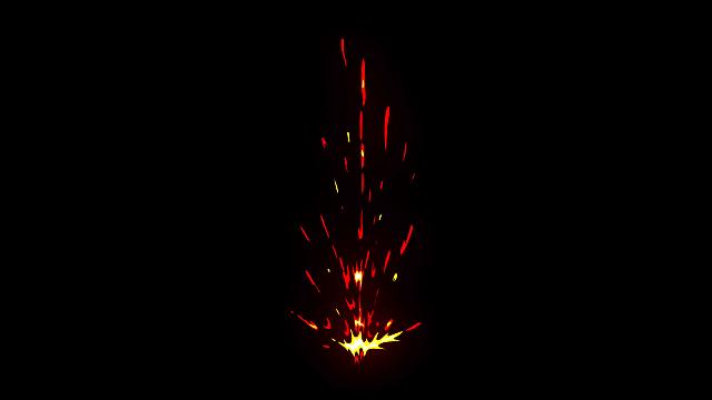 [单独购买] 150个4K高清动漫卡通火焰烟雾能量电流爆炸转场MG元素包PR+AE动画模板  BusyBoxx – V06 Comic FireFX插图18