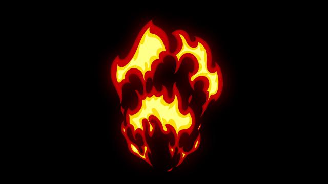 [单独购买] 150个4K高清动漫卡通火焰烟雾能量电流爆炸转场MG元素包PR+AE动画模板  BusyBoxx – V06 Comic FireFX插图51