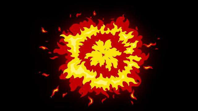 [单独购买] 150个4K高清动漫卡通火焰烟雾能量电流爆炸转场MG元素包PR+AE动画模板  BusyBoxx – V06 Comic FireFX插图53