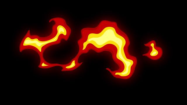 [单独购买] 150个4K高清动漫卡通火焰烟雾能量电流爆炸转场MG元素包PR+AE动画模板  BusyBoxx – V06 Comic FireFX插图57