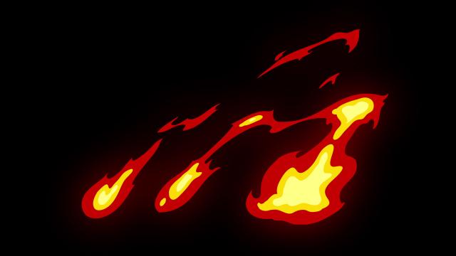 [单独购买] 150个4K高清动漫卡通火焰烟雾能量电流爆炸转场MG元素包PR+AE动画模板  BusyBoxx – V06 Comic FireFX插图65