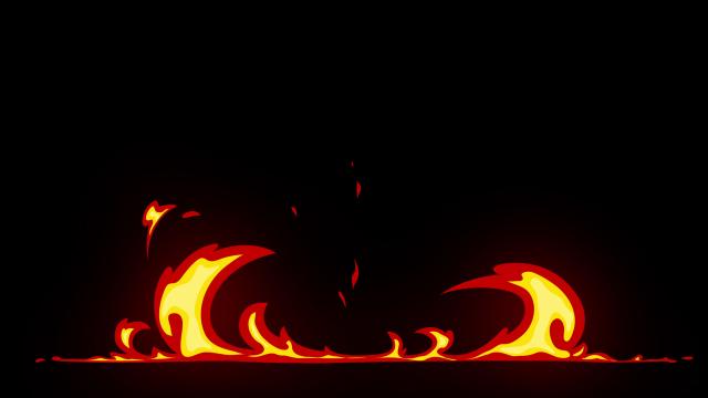 [单独购买] 150个4K高清动漫卡通火焰烟雾能量电流爆炸转场MG元素包PR+AE动画模板  BusyBoxx – V06 Comic FireFX插图66