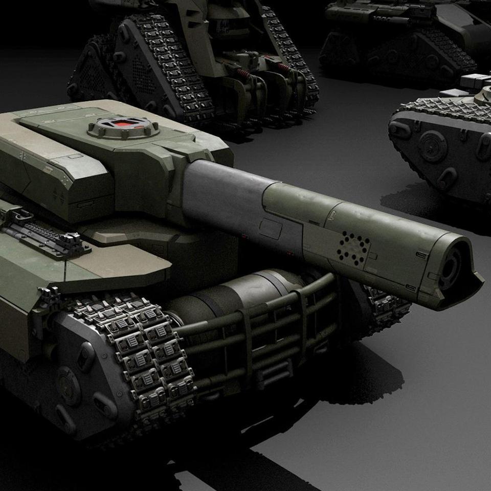 超炫酷科幻履带坦克战争战车炮塔设计3D模型素材 Kitbash3D – Veh.Tanks插图2