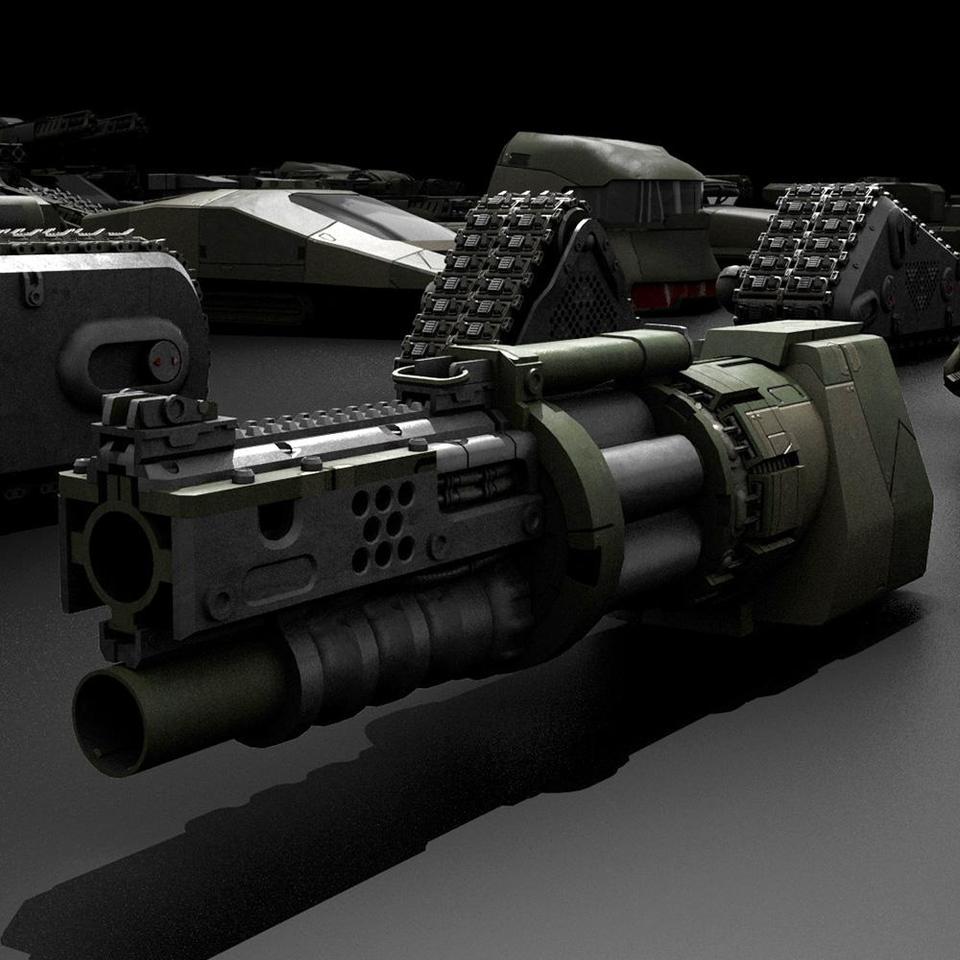 超炫酷科幻履带坦克战争战车炮塔设计3D模型素材 Kitbash3D – Veh.Tanks插图4