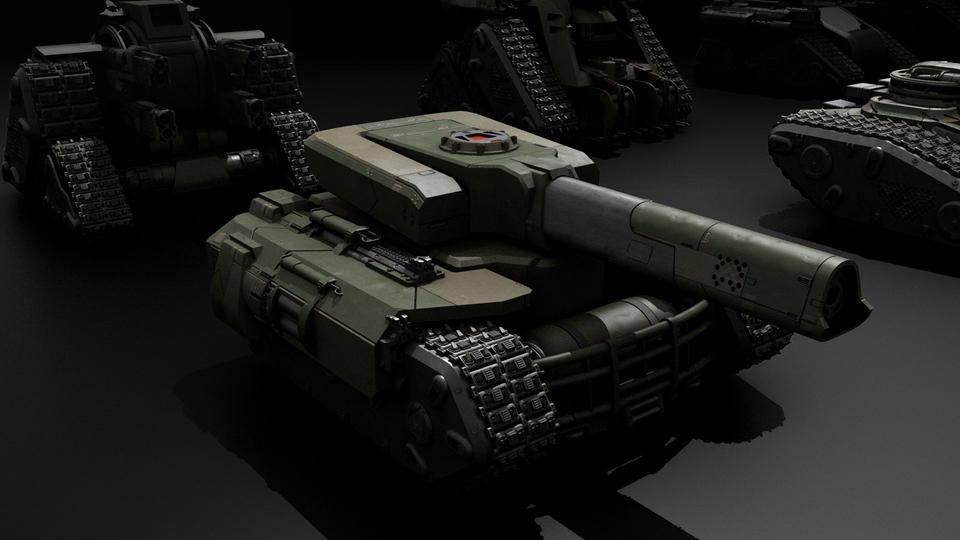 超炫酷科幻履带坦克战争战车炮塔设计3D模型素材 Kitbash3D – Veh.Tanks插图12