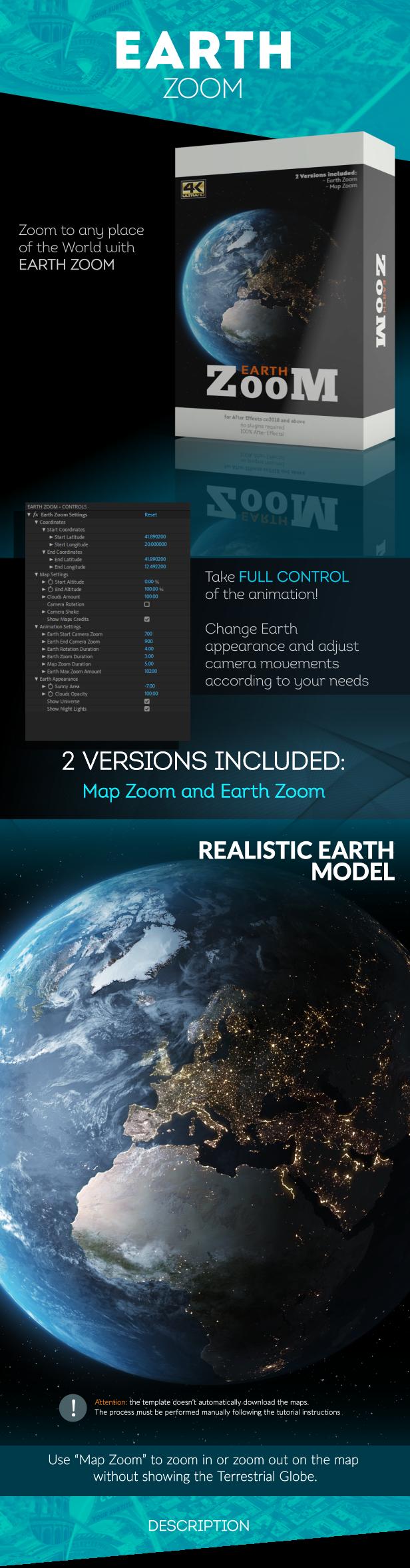 创意地球冲击地图连线路径地点方位标注动画AE模板素材 Videohive – Animated Map Toolkit插图3
