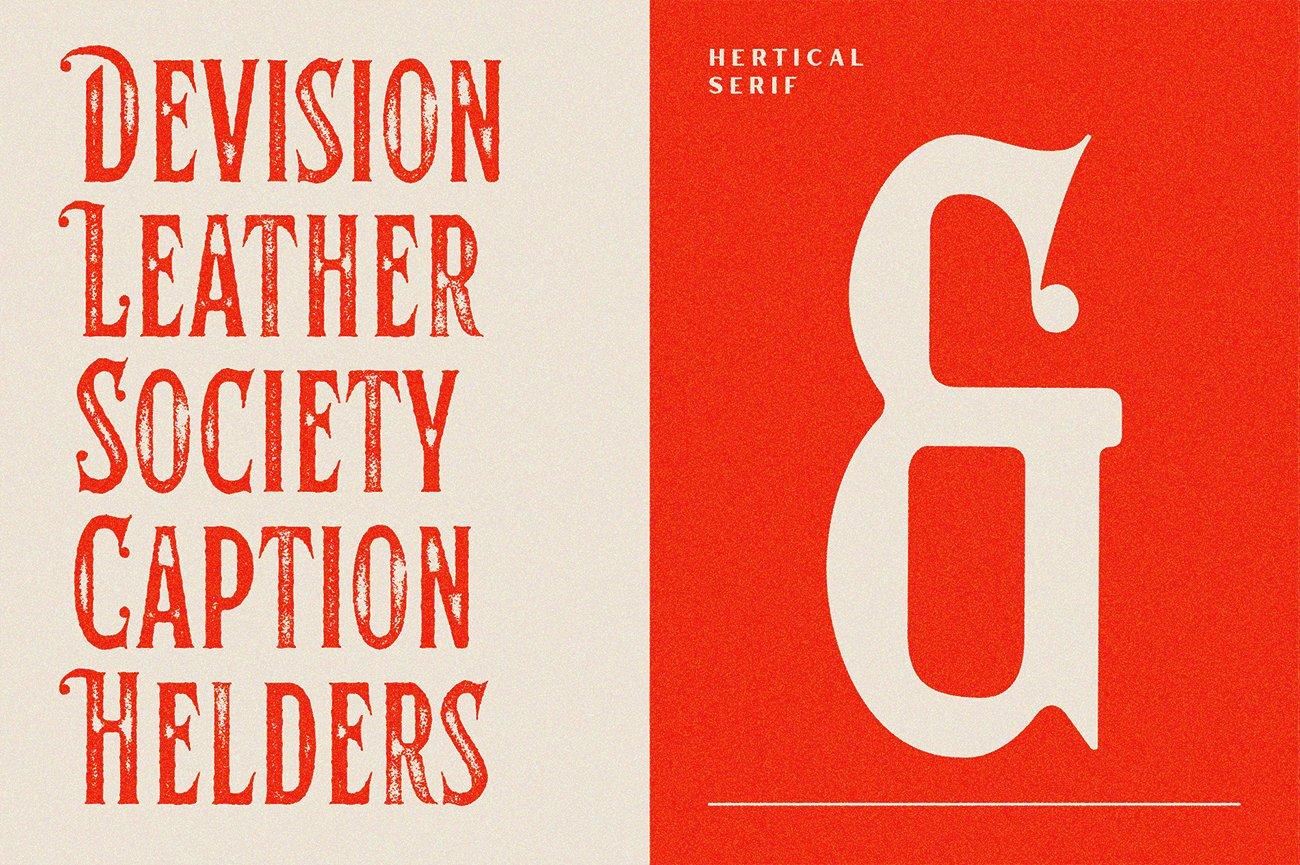 时尚复古标题徽标Logo衬线英文字体下载 Hertical Font插图6