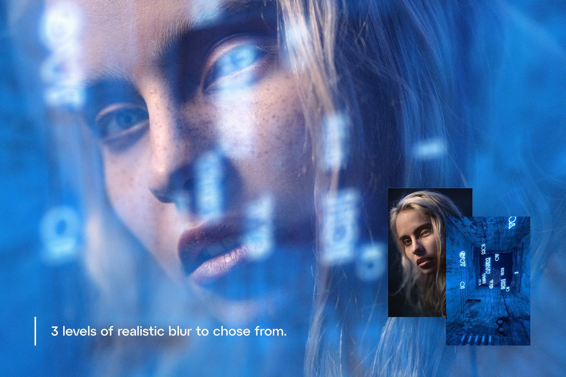 潮流模糊镜面玻璃反射效果图层叠加PS设计素材 Reflex – Custom Glass Reflection插图6